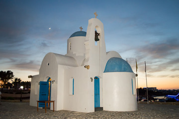 St.Nicholas Church near Louma Beach in Pernera, Cyprus on June 16, 2018.