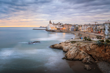 Sitges is a small city near Barcelona famous for its beaches and nightlife.