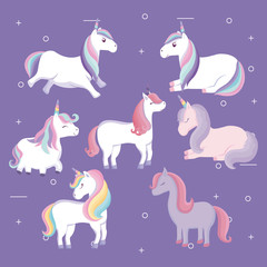 Custom vertical slats with your photo group of cute unicorns animals
