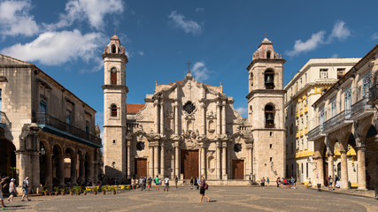 place of the catedral, havana cuba