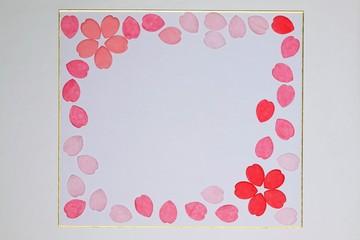 色紙と花びら