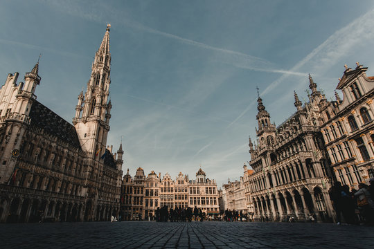 Grand Place from a low angle