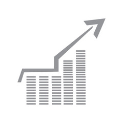 Isolated success business graph. Vector illustration design