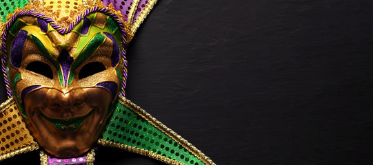 Colorful Mardi Gras mask background Wall mural