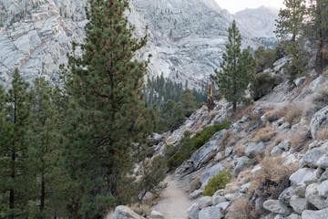 Two segments of the Mt. Whitney trail near Lone Pine, California, CA