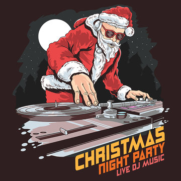 christmas santa claus dj party