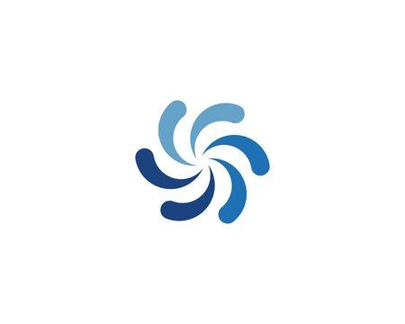 vortex, wave and spiral icon