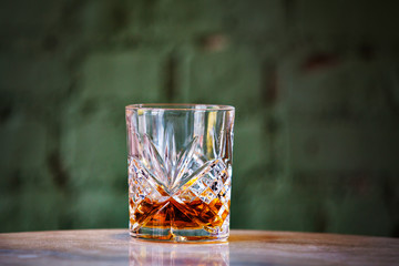 Whiskey in drinking glass