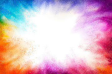 Exploding colorful powder effect Wall mural