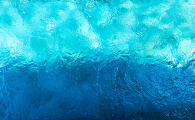 Abstract of blue water in two tones