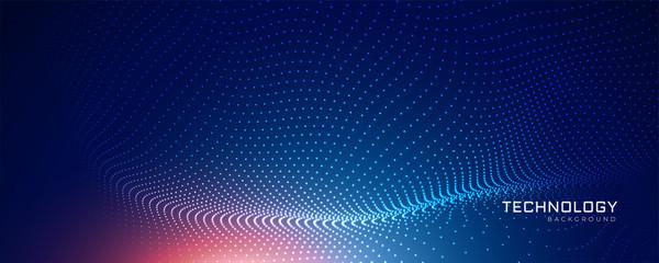 Obraz abstract blue technology particle background - fototapety do salonu