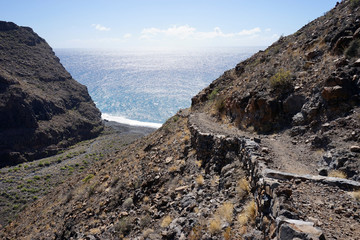 Trail on the coast