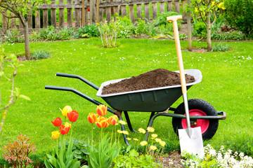 Gartenzeit - Kompost für das Beet