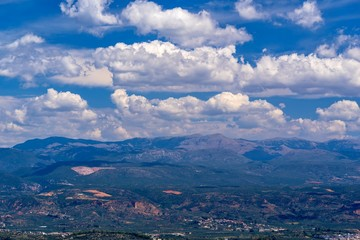 beautiful panoramic landscape of the earth from height