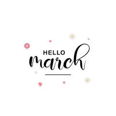 Hello March Vector Design