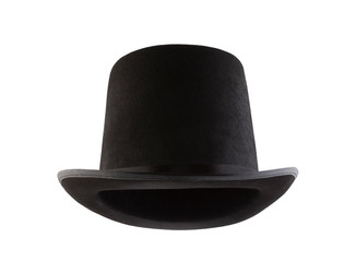 013f9614efb Black vintage top hat isolated on white background
