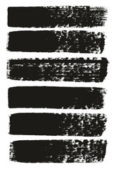 Paint Brush Medium Lines High Detail Abstract Vector Background Set 99