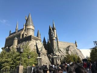 The Hogwart's Castle in Universal Studio Japan