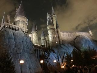 The Hogwart's Castle in Universal Studio Japan at Night