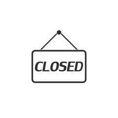 Closed icon in simple design. Vector illustration