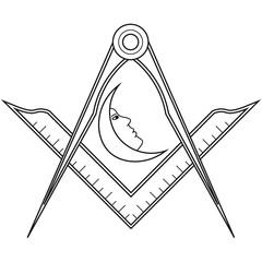 Masonic symbol of Junior Deacon for Blue Lodge Freemasonry