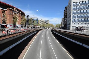 Avenida en la ciudad de Barcelona