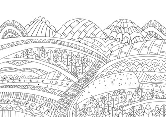 Forest #31 (Nature) – Printable coloring pages | 240x339