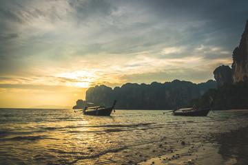Beautiful Tropical Beach PP Island, Krabi, Phuket, Thailand. blue ocean background Summer view Sunshine at Sand and Sea Asia Beach Destinations
