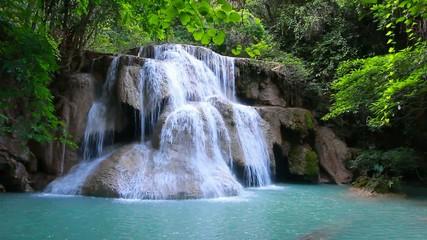 Wall Mural - Huay mae kamin waterfall at Kanchanaburi, Thailand