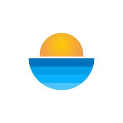 Sun logo icon design vector template