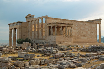 Erechtheion - antique temple in Athenian Acropolis, Greece