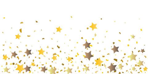 Golden glitter confetti of stars.