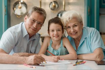 Grandparents and their grandaughter