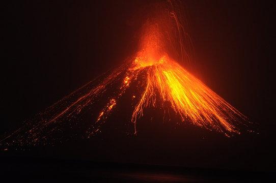 Krakatoa erupting, Lampung, Indonesia