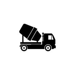 Concrete mixing truck icon