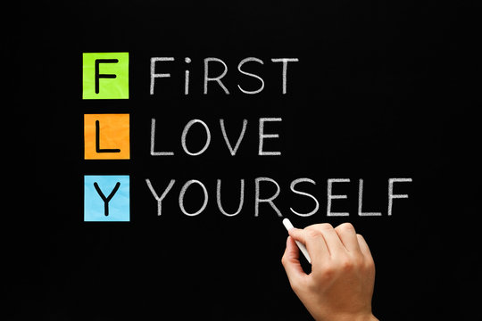 FLY - First Love Yourself Acronym Concept