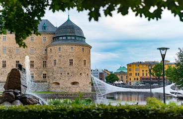 Old medieval castle in Orebro, Sweden, Scandinavia
