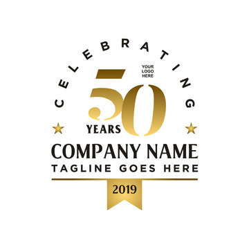 Anniversary 50th company logo design inspiration