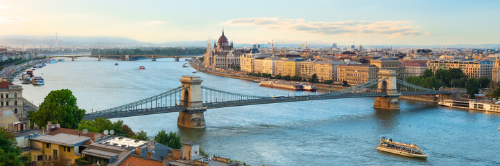 Evening over Budapest