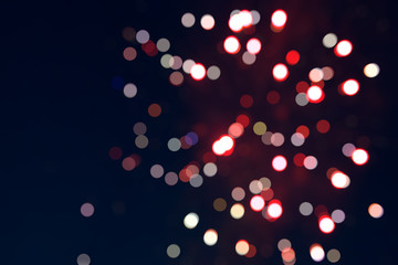 Abstract blurry background with defocused bokeh light elements