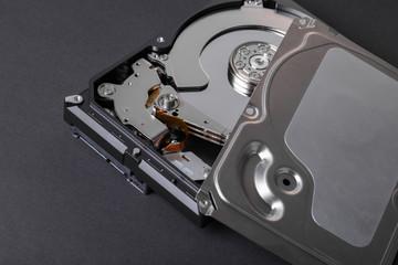 Fototapeta disassembled computer hard drive obraz