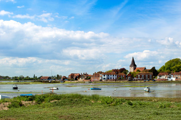 Bosham in May with the tide out, West Sussex, England
