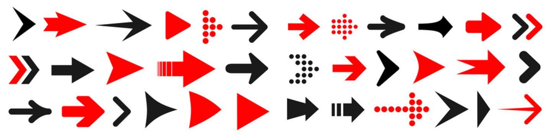 Set arrow icon. Different arrows sign – vector