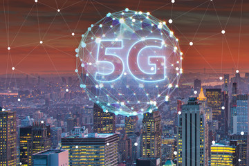5g internet concept in technology concept