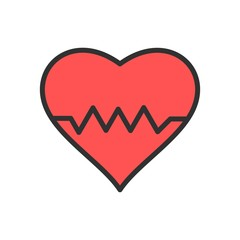 Vector Heart Beat Icon