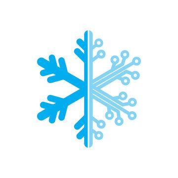 snowflake technology logo icon vector template