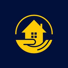 home care logo icon vector template