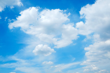 Nature background, Blue sky and cloud in sunny day, spring and summer season