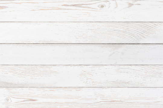 White planks wood background