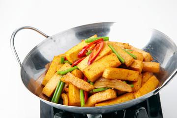 Delicious Chinese cuisine, tofu pot